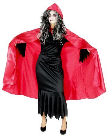 Deluxe Samt Vampir Umhang rot Gr. S - XXXL