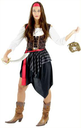 Piratin Kostüm S - XXL