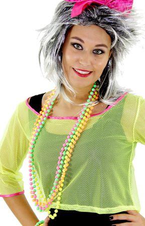 4er Set 80er Jahre Neon Perlenketten