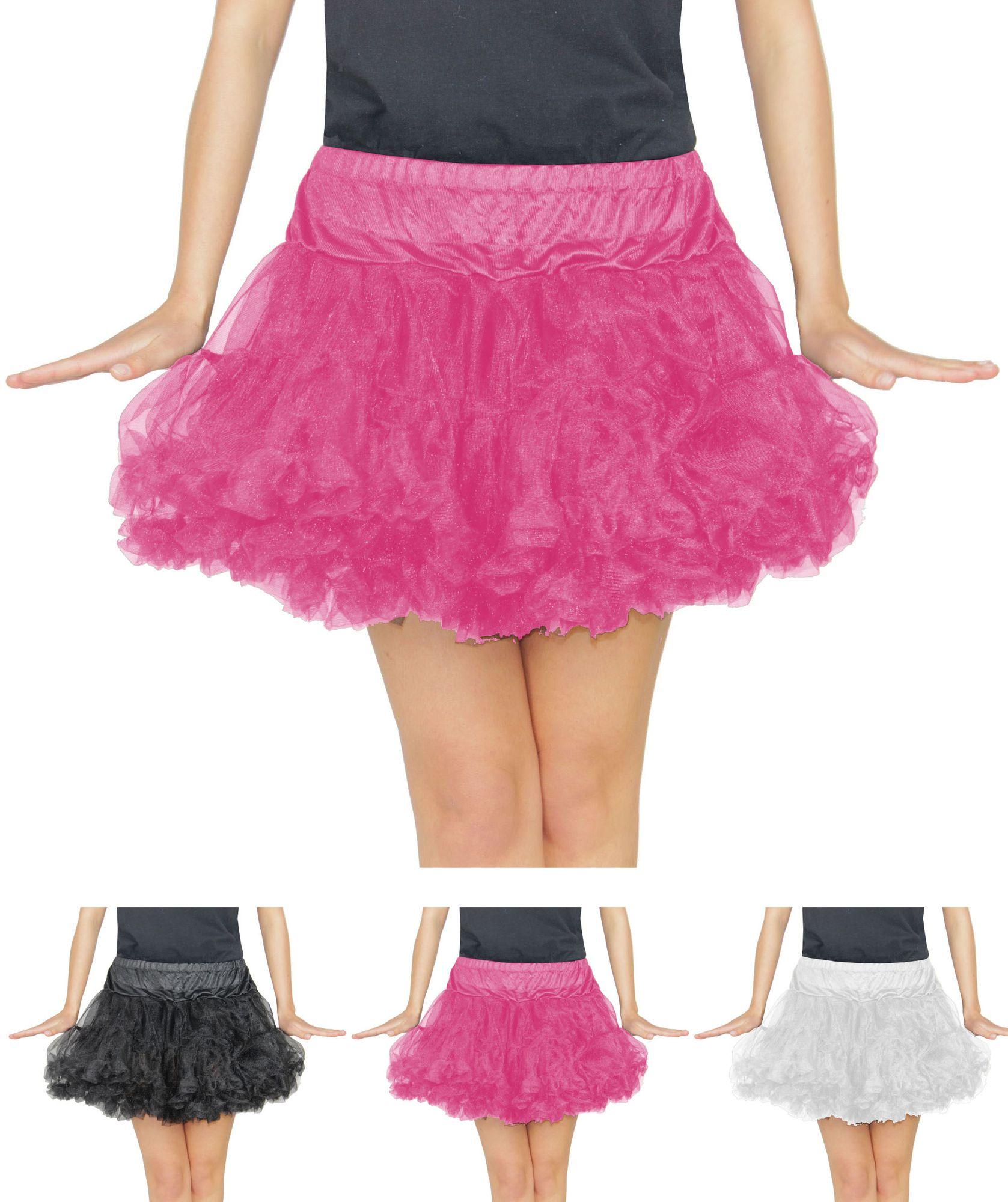e6f1203723e0 pinkes Damen Tutu für Ballet Fasching Karneval Tüll Rock kurz pink