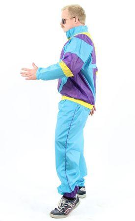 80er Jahre Kostüm Trainingsanzug Assianzug