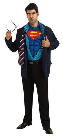 Clark Kent Superman 2in1 Kostüm für Herren