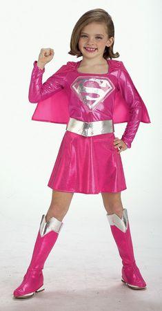 pinkes Supergirl Kostüm für Kinder