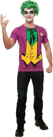 Joker Shirt und Perücke Kostüm für Herren Gr. M - XL