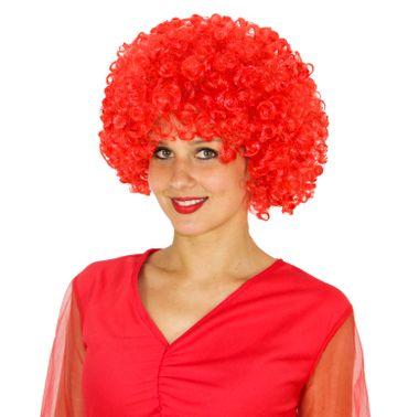 rote Clown Afro Perücke Lockenkopf