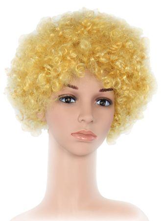 blonde Clown Afro Perücke Lockenkopf