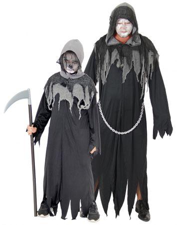Sensenmann Horror Kostüm für Kinder und Erwachsene