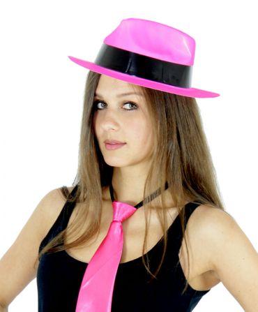 pinker Gangster Hut für Damen und Herren