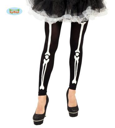 Skelett Strumpfhose für Damen