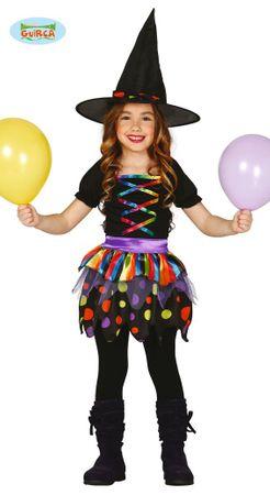 bunte Kinder Hexe Kostüm für Mädchen Gr. 98-146