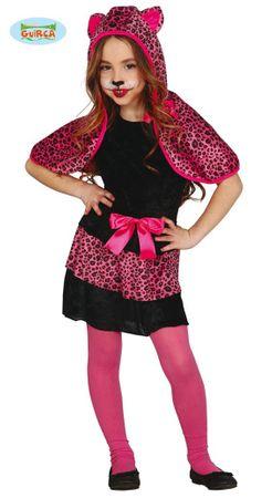 pinkes Leoparden Kostüm für Mädchen Gr. 110-146