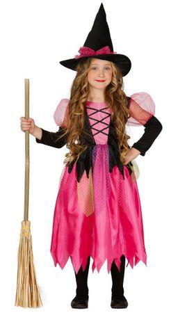 Pinke Hexe Hexenkostüm für Mädchen Gr. 110-146