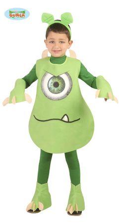 Grünes Monster Kostüm für Kinder