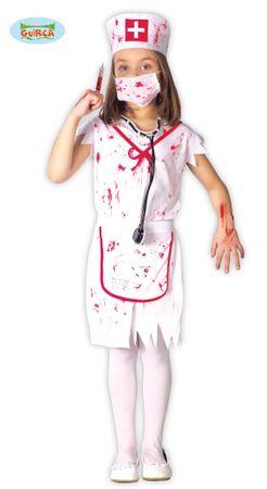 Zombie Krankenschwester Mädchen Kostüm Gr. 110-146