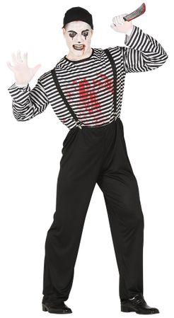 Mörder Pantomime Kostüm für Herren Gr. M/L