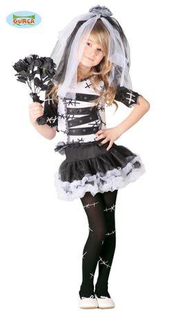 Monster Braut Kostüm für Mädchen Gr. 98 - 146