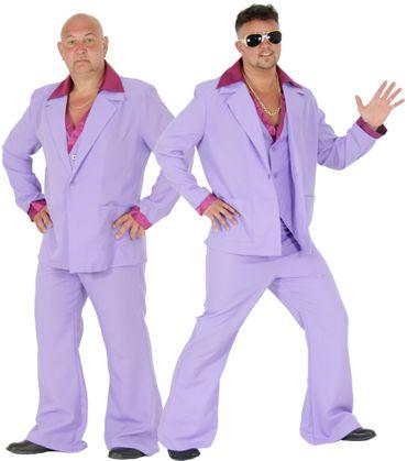 cooler 70er Jahre Disco Anzug Kostüm für Herren Gr. M - XL