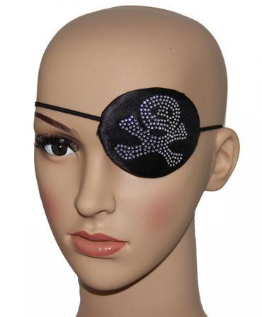 Augenklappe Pirat mit Strass