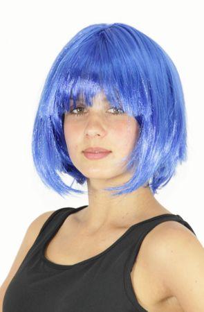 blaue Bob Perücke für Damen