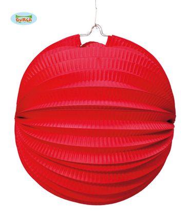 runder roter Lampion ca. 20 cm