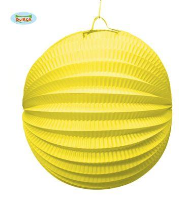 runder gelber Lampion ca. 20 cm