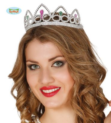 silberne Krone Tiara Diadem