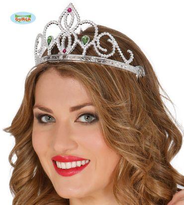silberne Krone Diadem Tiara