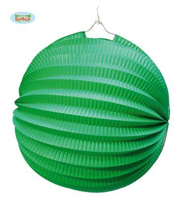 runder grüner Lampion 26 cm