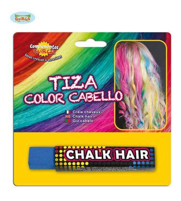blaue Haarkreide zum Färben