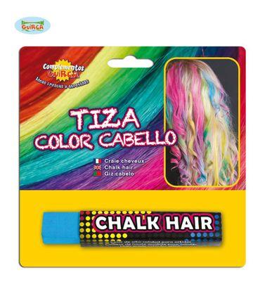 hellblaue Haarkreide zum Färben