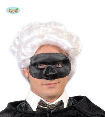 schwarze Maske in Seiden Optik für Herren