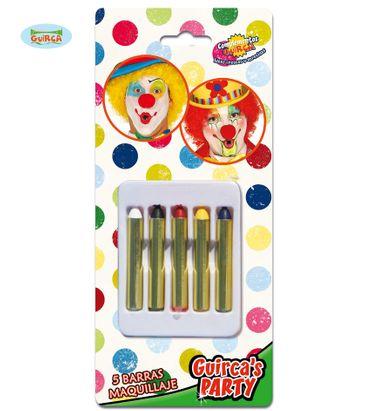 Schminkstifte 5 Farben schminken