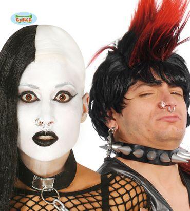 8 Fake Piercings zum Punk Kostüm
