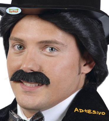 Schwarzer Schnurrbart zum Aufkleben