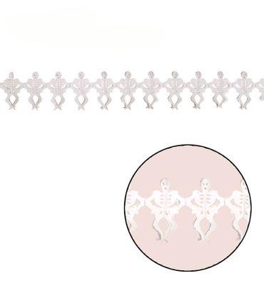 Skelett Girlande Dekoration ca. 400 cm x 25 cm