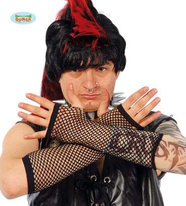 schwarze Netz Handschuhe für Herren ca. 20cm