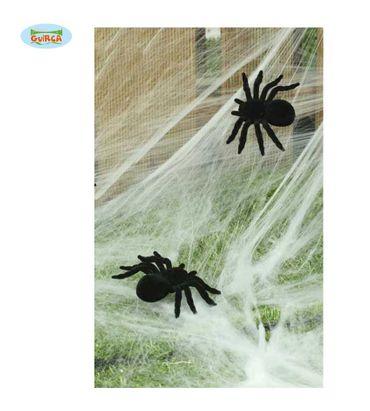 2 Spinnen schwarz Halloween Deko 10 cm