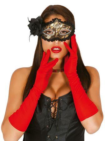 rote lange Handschuhe, 45cm