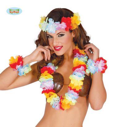 4 teiliges Hawaii Blumen Set für Damen