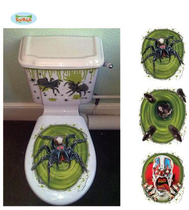 WC Deckel Aufkleber Halloween Toiletten Sticker