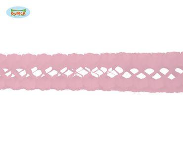 rosa Papier Girlande für Party ca. 17 x 300 cm