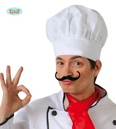 Stoff Kochmütze in weiß