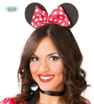 süßer Maus Ohren Haarreif mit Schleife für Damen