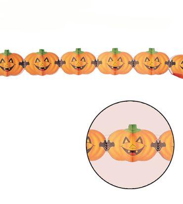 Halloween Kürbis Girlande Dekoration 400 cm lang