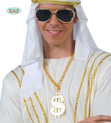 Dollar Halskette in gold