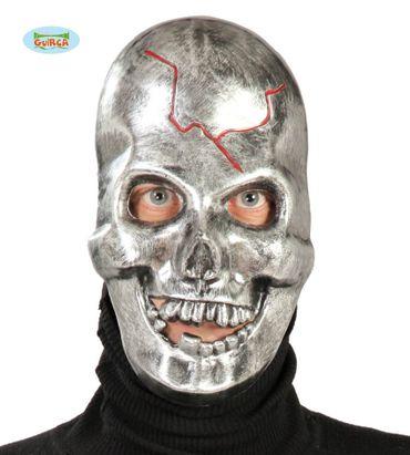 Schädel Maske mit Metalloptik für Erwachsene