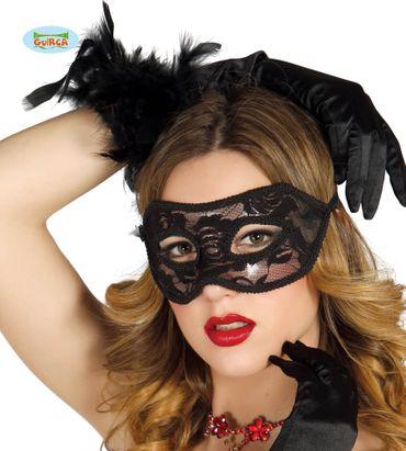 sexy schwarze Maske aus Spitze für Damen