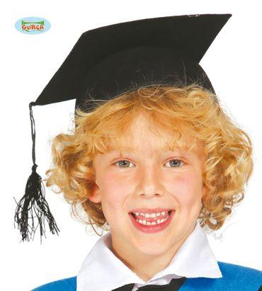 schwarzer Highschool Abschluss Hut für Kinder