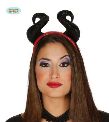 sexy Teufel Dämon Haarreif mit Teufelshörnern für Damen