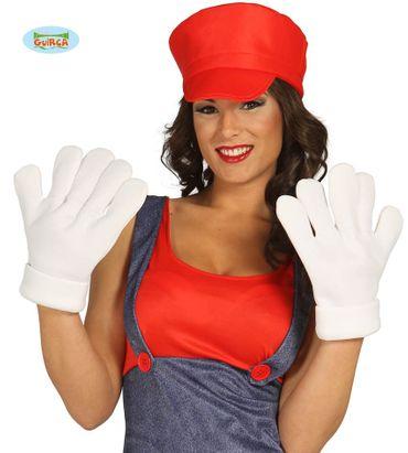 weiße große Comic Handschuhe für Erwachsene